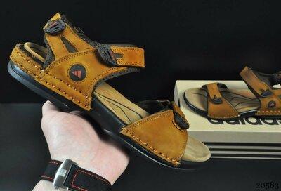Сандалии мужские Adidas рыжие и коричневые 40-45р