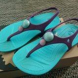 Крокс Crocs оригинал 10 размер детские вьетнамки босоножки флипы сандалии