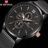 Мужские часы Naviforce Business Steel 3003 / Гарантия 12 месяцев, Чоловічий годинник Навифорс