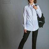 Блузка белая и укороченные брюки кюлоты синие Baby Angel для девочек в школу