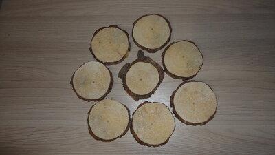 Круглый срез с корой сосна набор 8 шт