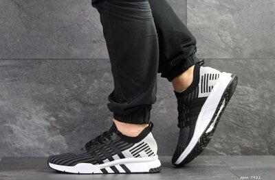 Adidas Equipment adv 91-18 кроссовки мужские демисезонные черные с серым 7921