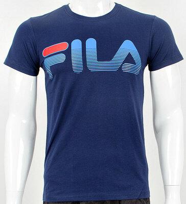 Футболка мужская Fila темно-синяя большая надпись.