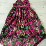 Яркий и красивый сарафан. Платье летнее с шлейфом для девочки
