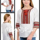 42-52 Вишиванки жіночі, льон. Вышиванка женская. лен. Блузка, сорочка, В этно стиле, вышитая блуза