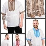 44-54 Вышиванка мужская. Чоловічі вишиванки - вишиті сорочки купити, вышиванка с коротким рукавом