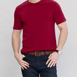 Мужская футболка бордовая Lc Waikiki / Лс Вайкики с круглым вырезом