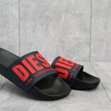Шлепанцы мужские Diesel black/red