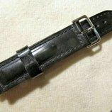 Кожаный ремешок для часов 18 мм, новый.