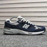Топ качество. Бесплатная доставка. Кроссовки New Balance 991 Deep Blue Silver 8801 KS 1066
