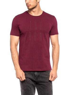 Мужская футболка бордовая Lc Waikiki / Лс Вайкики с надписью The Bronx