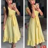 Легкое летнее платье,3 цвета