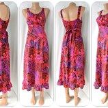 Очаровательное вискозное платье миди BM Collection с резинкой. Размер uk12 M .