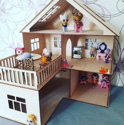 Кукольный домик для лол. Домик для куколок.