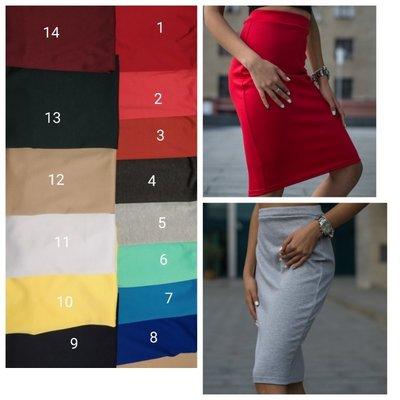 Размеры 40-58.Трикотажная юбка карандаш .Разные цвета.