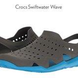 аквашузы тапочки для бассейна Crocs M5W7 M6W8