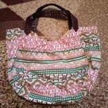 Пляжная тряпчаная сумка