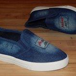 Крутезні джинсові мокасіни Стиляга