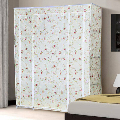 Шкаф складной тканевый 68130 розы прованс
