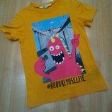 H&M футболка на 4-6 лет