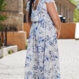 Женское турецкое платье ткань турецкий супер-софт принт батал скл.1 арт.54546