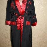 2 - цветный и двойной халат. 100% шелк с вышивкой длина по спинке - 127,5 см. ширина плеч - 69 см.,