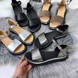 Натуральные кожаные женские босоножки сандалии 36 37 38 39 40