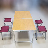 Стол и 4 стула комплект для кемпинга, туризма, сада, стол туристический стол для пикника