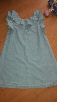 Стильное коттоновое платье девочке 10-12 лет