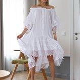 Красивое воздушное платье «Ангелина» три расцветки