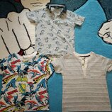 Набор футболок NEXT, H&M, GEORGE на 2-3 года