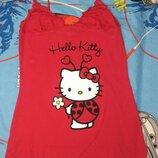 Лето Очень милое платье ночнушка сорочка Oysho Hello Kitty Выглядит просто супер Цвет насыщенный,