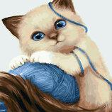 Картина По Номерам. BRUSHME Котёнок С Клубком GX23633