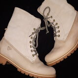 39р-25.5 нубук ботинки зима Tamaris primaloft высота от пола 24 ширина подошвы 10.3