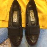 Фирменные кожаные лоферы Vero cuoio Italy,туфли,туфельки,балетки подарок