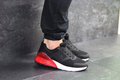Nike кроссовки мужские демисезонные черные с красным 7926