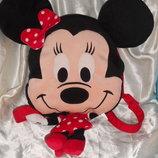 шикарная мягкая игрушка-рюкзак Минни Маус Minnie Mouse Disney Nicotoy Бельгия оригинал
