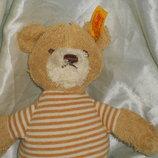 мягкая игрушка для самых маленьких Медвежонок Штайфф Steiff Германия оригинал кнопка