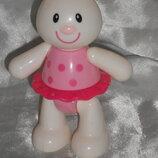 яркая развивающая игрушка-трещотка Кролик ELC Англия оригинал 14 см
