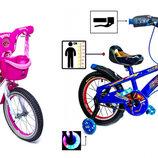 Детский велосипед Disney c музыкой светом для мальчиков Spiderman Red Blue девочек Girls Pink White