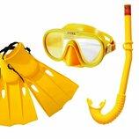 Набор 3 в 1 для плавания Intex 55655 маска размер L, 8 , голова 54 см, трубка, ласты размер L, 37