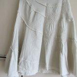 Льняная котоновая летняя юбка