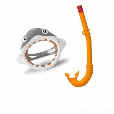 Набор 2 в 1 для плавания Intex 55944 «Акула», маска размер S, 3 , обхват головы 50 см,