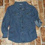 рубашка котон 3-4года F&F новая большой выбор одежды