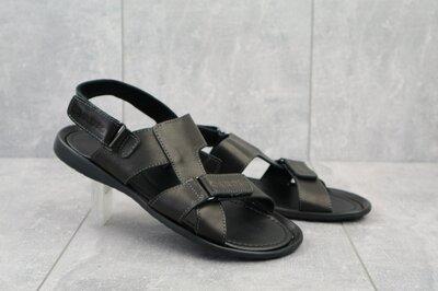 Мужские кожанные сандалии Cardio 320 black