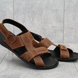 Мужские кожанные сандалии Cardio 320 brown