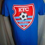Фирменная катоновая футболка футбол бренд Gildan.s-m