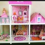 Домик 66883 Для Куклы. кукольный Домик. Ляльковий будинок. Будинок для ляльки Барбі.