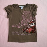 летняя футболка с рисунком на 4-5 лет