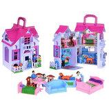 Домик F611 Раскладной. Ляльковий будинок. Будинок для пупсика. Кукольный домик. Домик с мебелью.